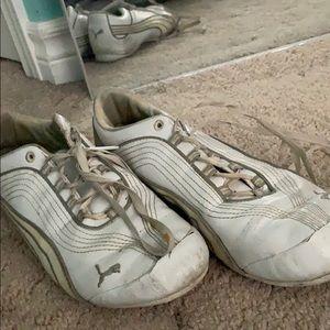 White puma cheer shoes